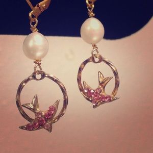 Vintage one-of-a-kind romantic sparrow earrings